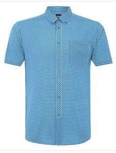 рубашка Merc morales vivid blue